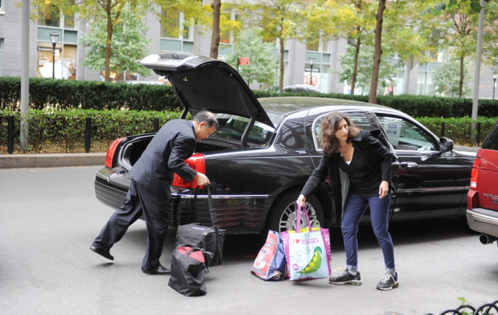 Some Battery Park City residents were picked up in style. Carl Glassman/Tribeca Trib