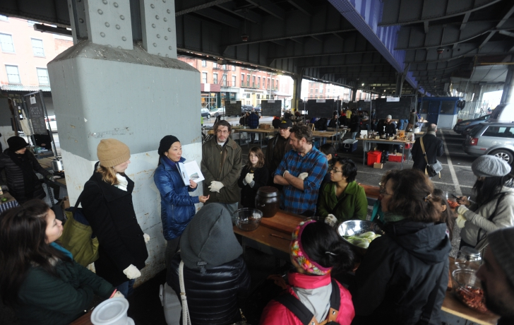 At the New Amsterdam Market, Lauryn Chun discusses the history of kimchi. Carl Glassman/Tribeca Trib