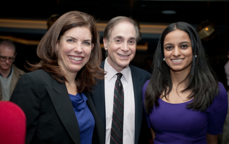 Julie Menin, Glenn Plaskin and Jenifer Rajkumar. Photo by Robert Braufeld