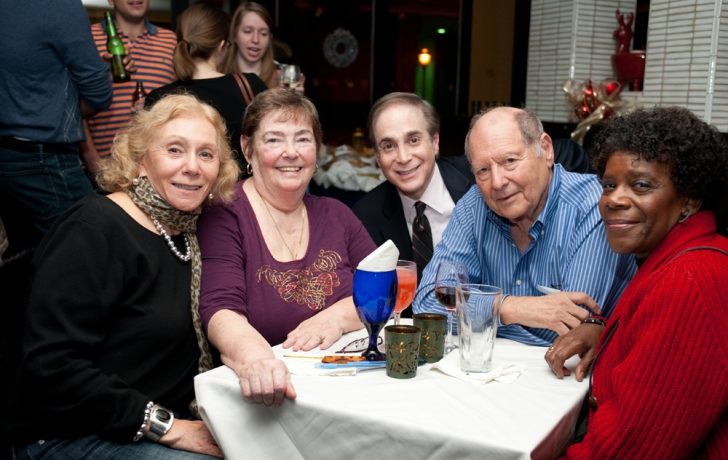 From left: Sondra Avrick, Nancy Chambers, Glenn Plaskin, Stuart Averick and unidentified. Photo by Robert Braunfeld