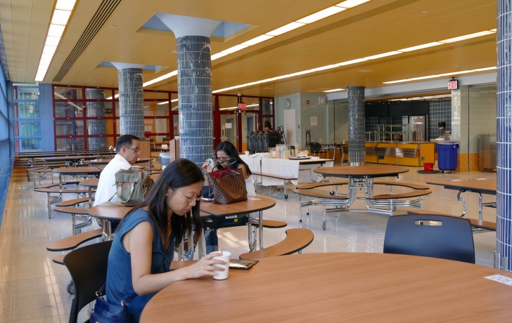 The cafeteria, located on the first floor. Photo: Carl Glassman/Tribeca Trib