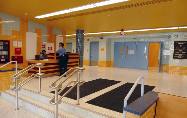 The Peck Slip School lobby. Photo: Carl Glassman/Tribeca Trib