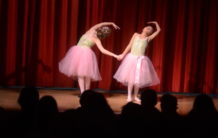"Claire Duguet and Hanaco Fujita perform ""Dance of the Flowers."" Photo: Carl Glassman/Tribeca Trib"