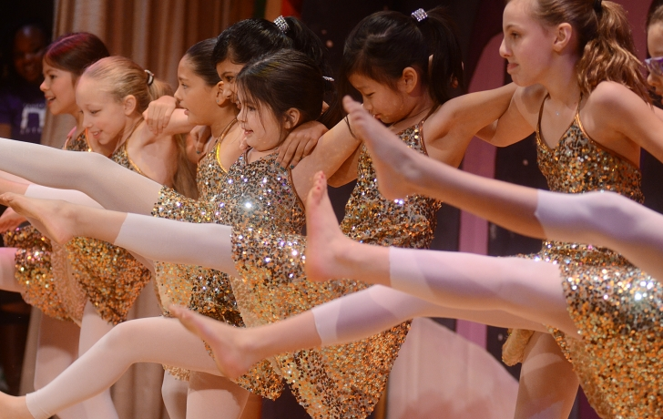 """Eleven fourth- and fifth-graders from P.S. 276 perform the """"Nutcracker"""" finale, choreographed by their teacher, Frida Persson. Photo: Carl Glassman/Tribeca Trib"""