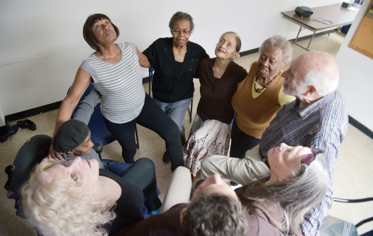 in tribeca  seniors gather weekly to help heal knees  hips